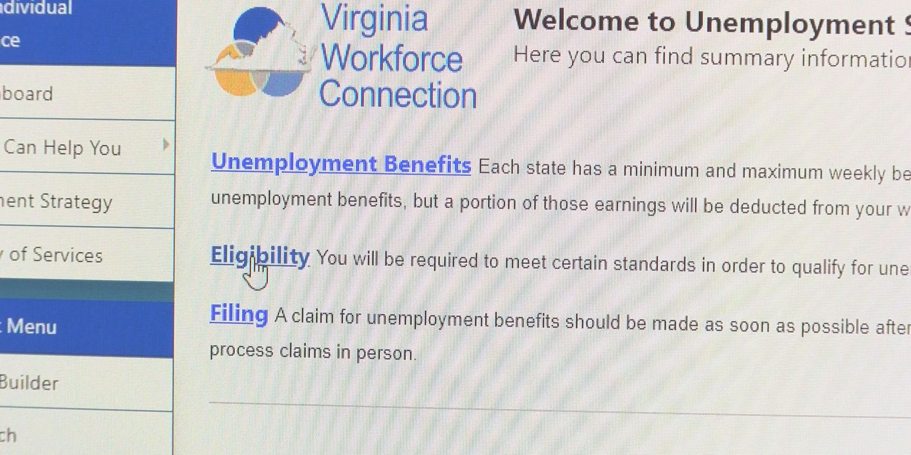 VEC addresses problems for residents filing weekly unemployment claims