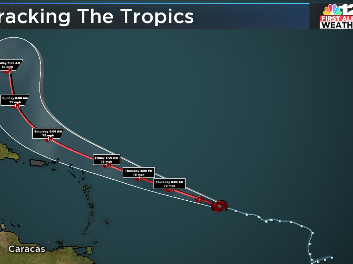 Tropical Storm Jerry forecast to stay east of U.S.