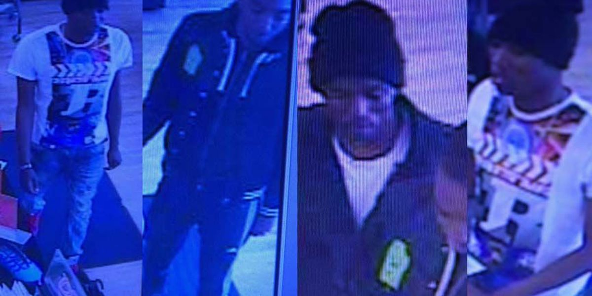 Photos show suspects using stolen credit card at clothing store