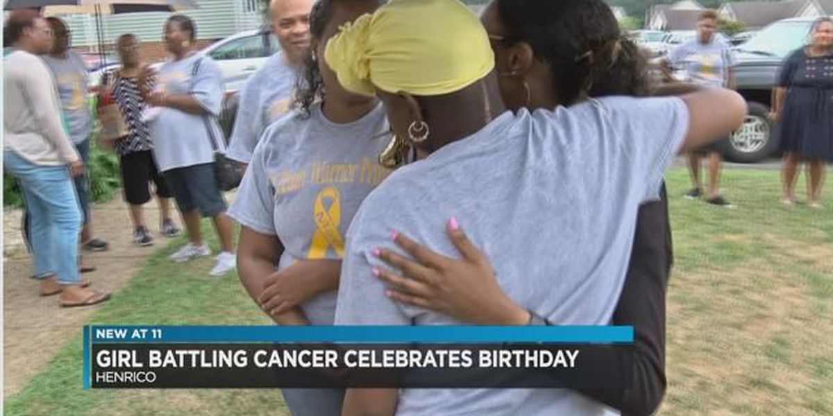 12-year-old Henrico girl celebrates birthday, last day of radiation