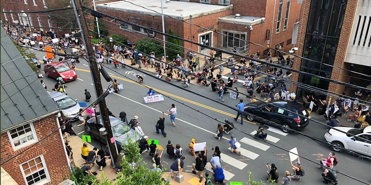 Protesters flood the streets of Charlottesville in honor of George Floyd