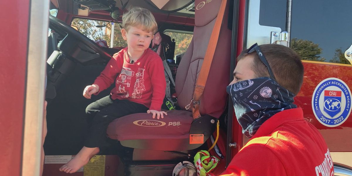 Charlottesville firefighters bond with young boy during pandemic