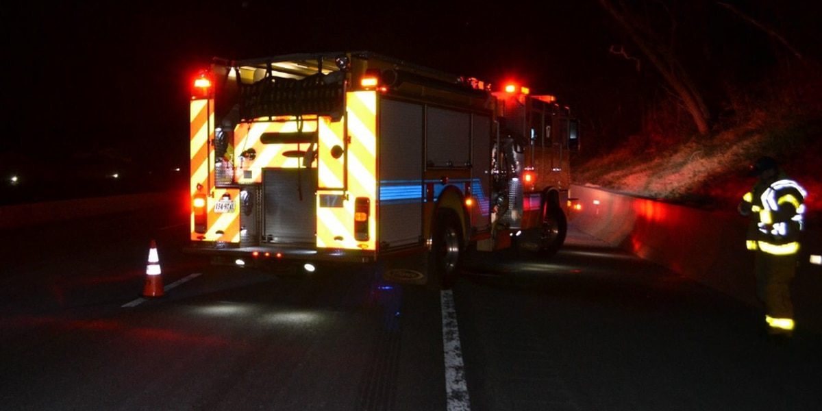 Chesterfield fire truck hit by vehicle