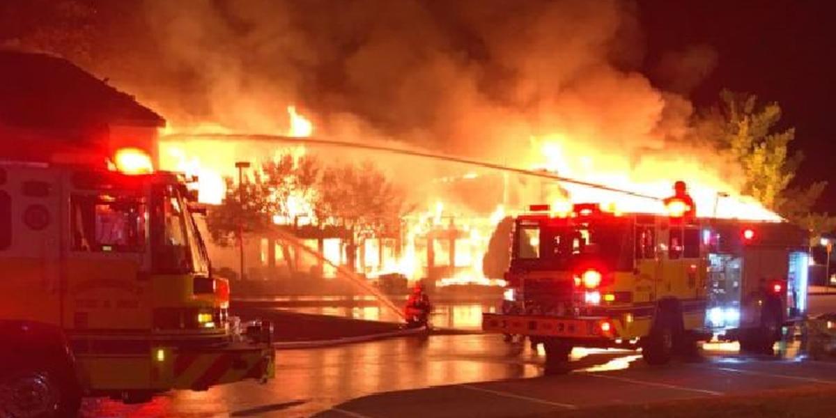 Massive fire destroys several businesses overnight