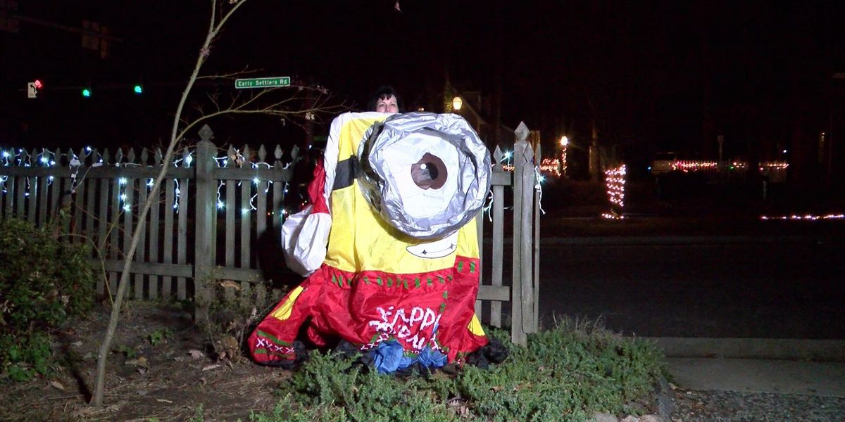 Christmas spirit fights back against Chesterfield decoration vandal