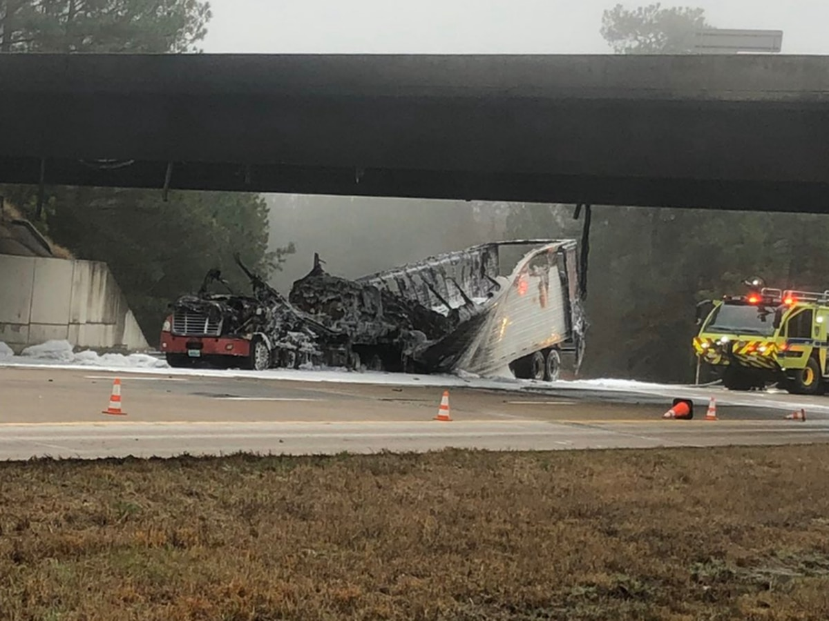 Henrico overpass closed until further notice due to a tractor-trailer fire
