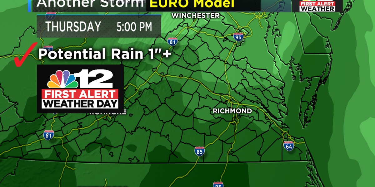 First Alert Weather Day: Heavy rain likely Thursday afternoon and night
