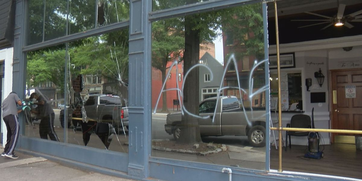 """It's not fair"": Business owners clean up after overnight protests"