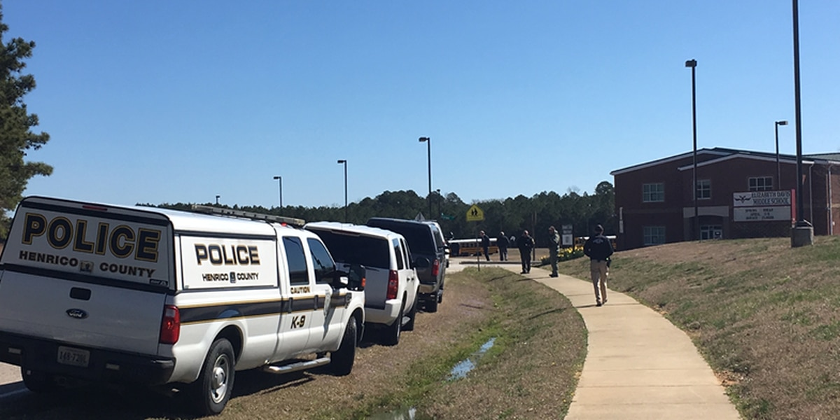Chesterfield middle school bomb threat not credible, officials say