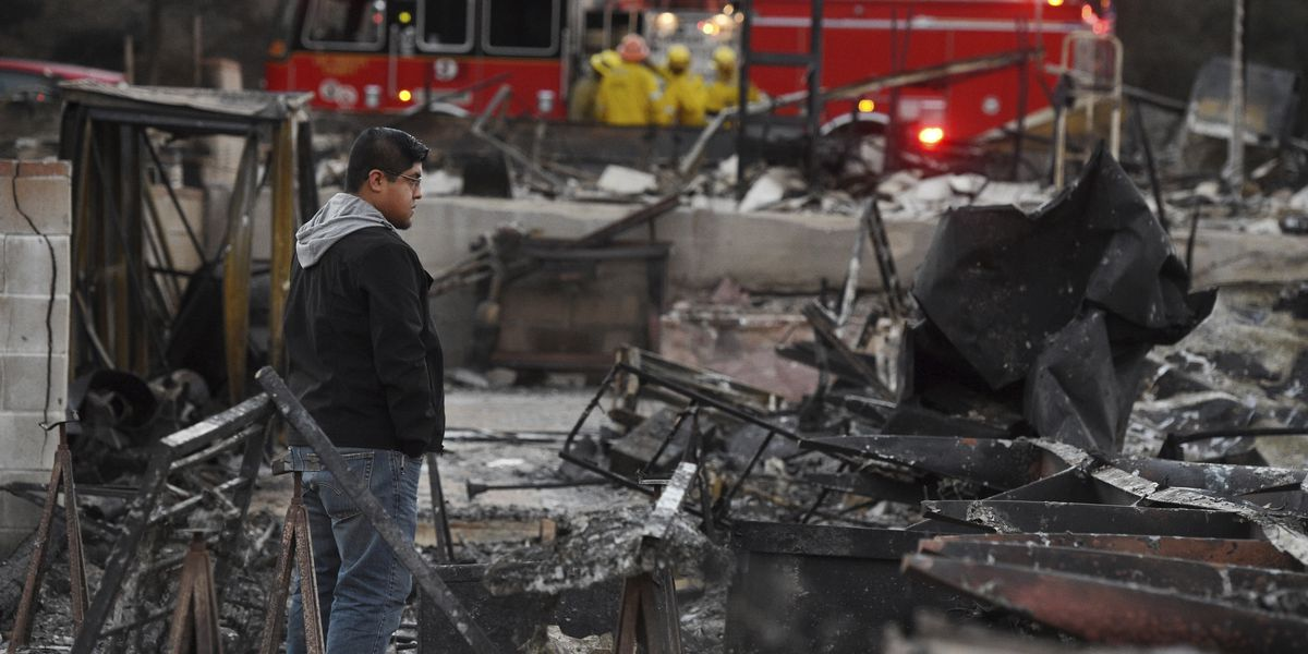Winds cause flare-ups of big Southern California wildfire
