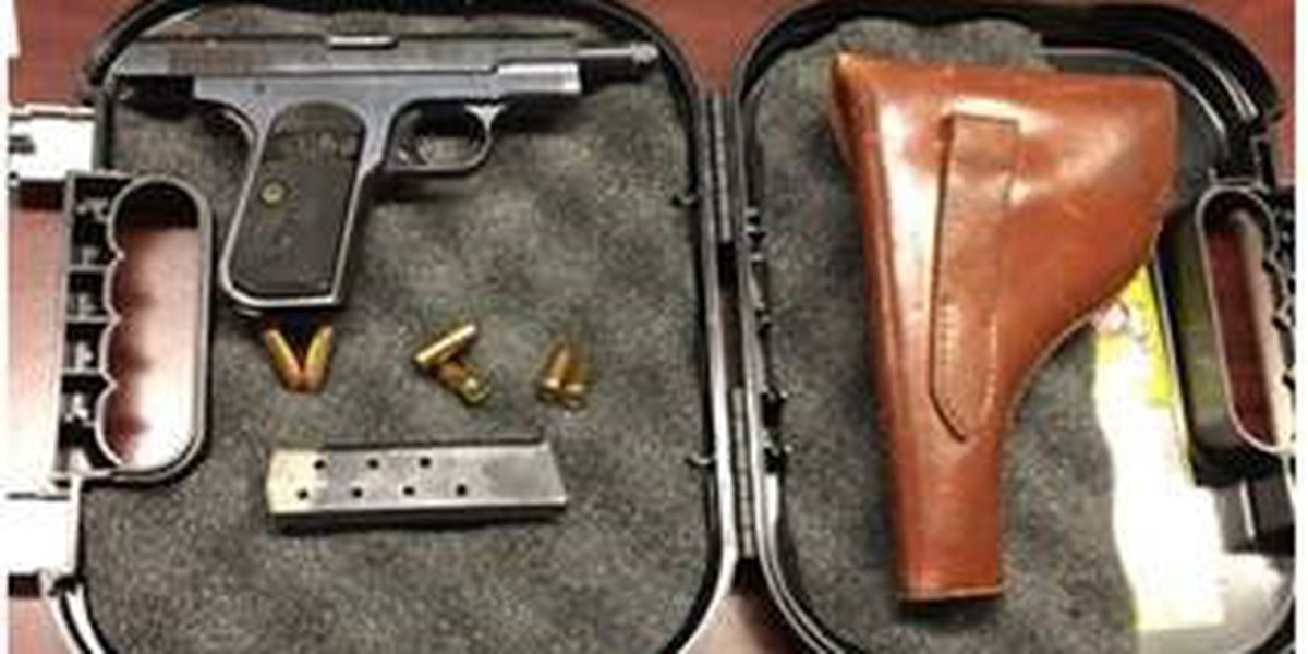 Loaded gun, 22nd of year, confiscated at Norfolk airport