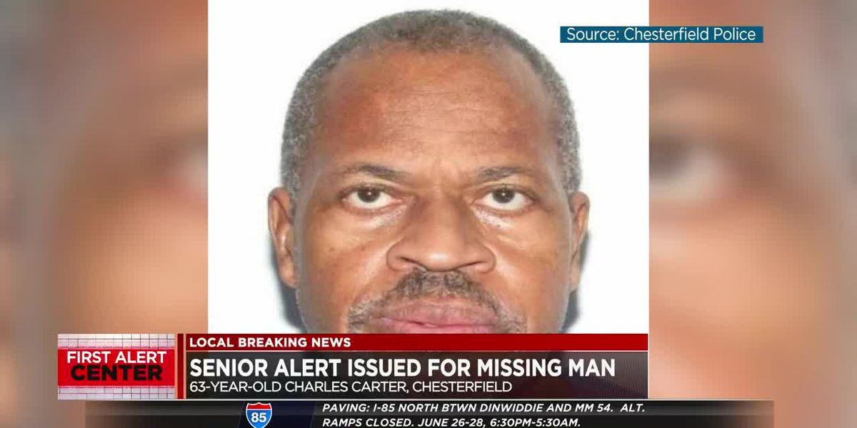 SENIOR ALERT: Chesterfield police searching for missing 63-year-old man