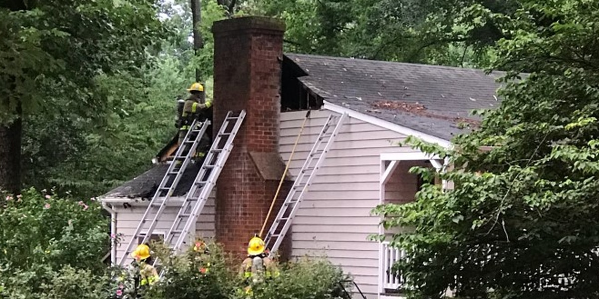 Lightning strike hits tree, causing fire to spread to attic of home