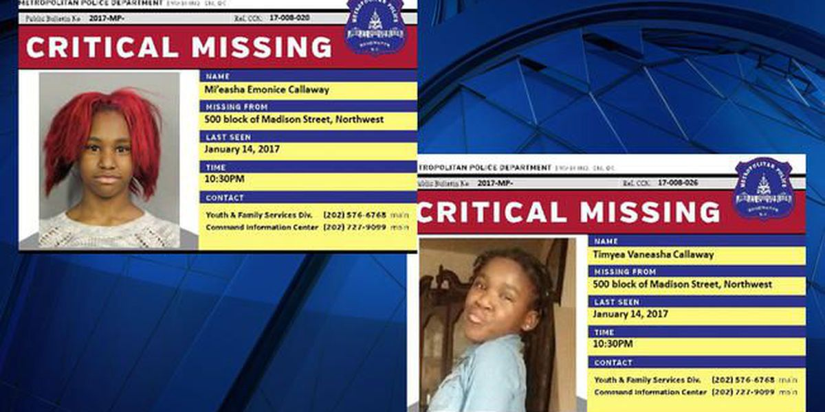 2 cousins critically missing in D.C.