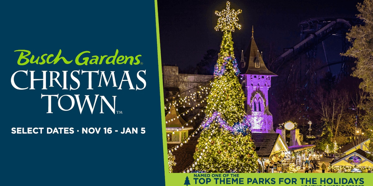 Enter to Win 4-Pack of Tickets to Busch Gardens Christmas Town
