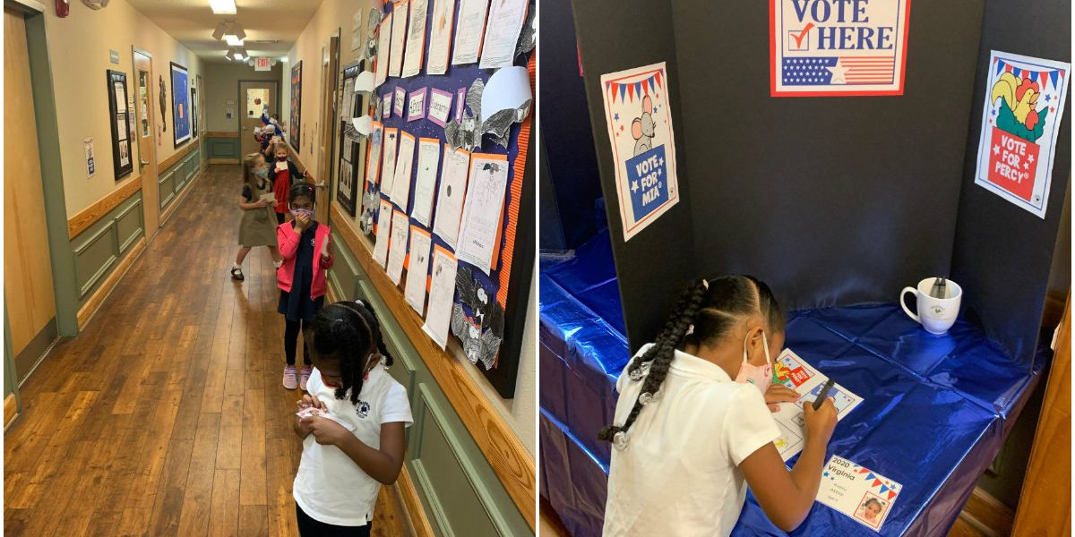 Primrose School of Atlee Commons holds mock election for students