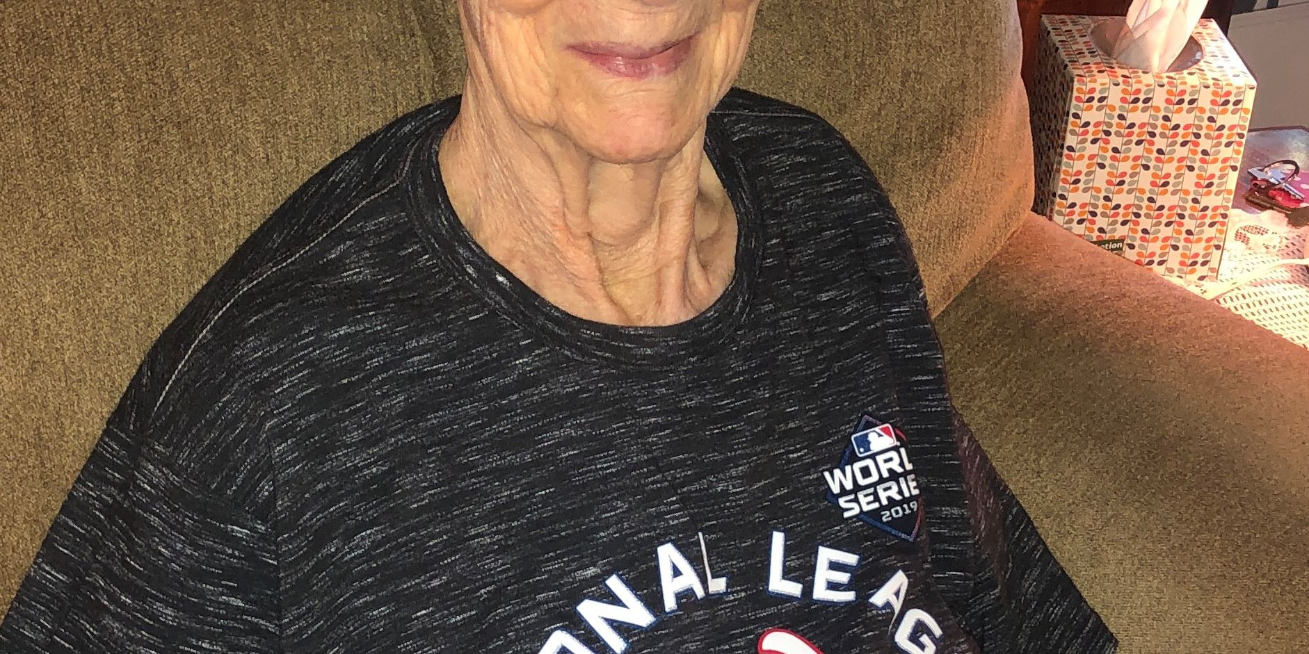 'Nanny' Jenkins is the Nationals' 91-year-old spriest super fan