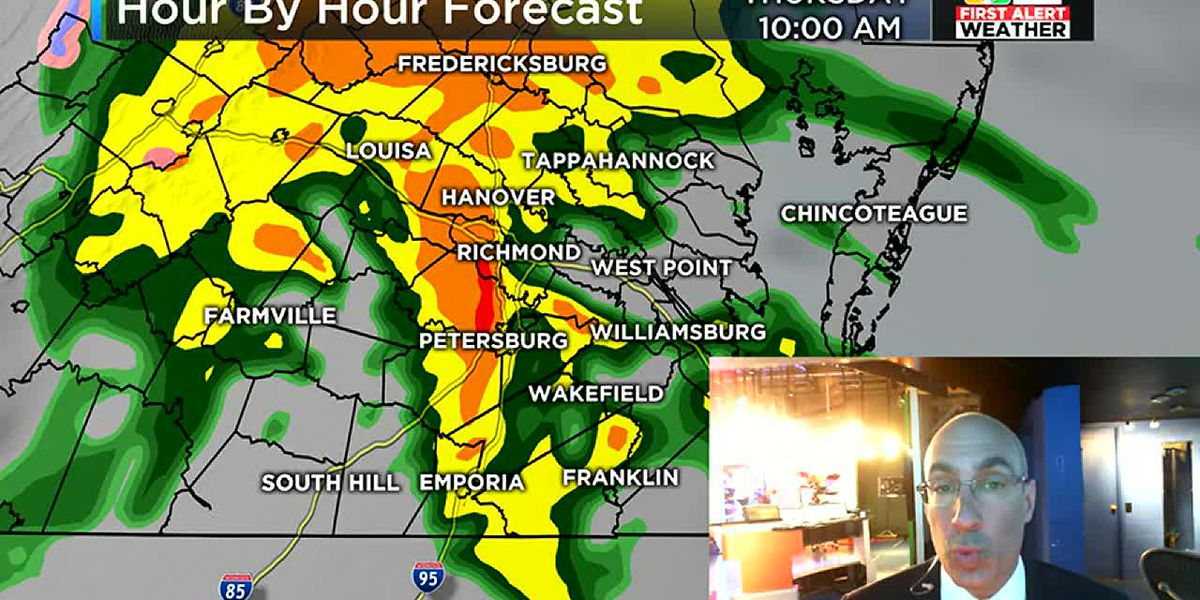 Soaking rain set for Thursday in Virginia