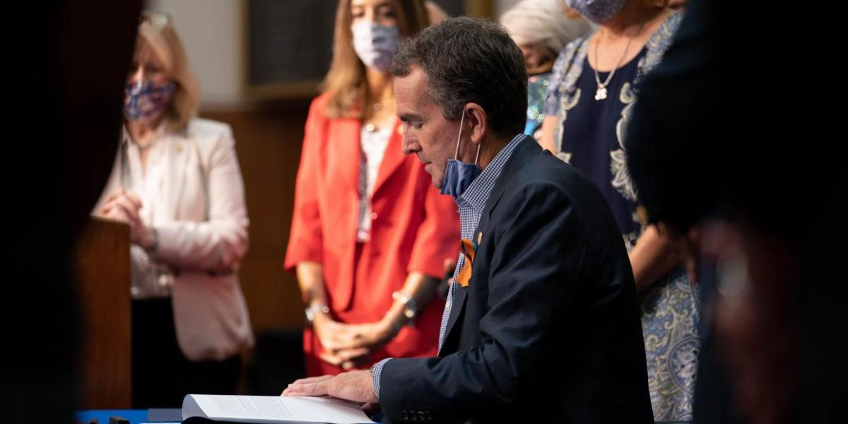 Gov. Northam holds ceremonial bill signing for gun legislation