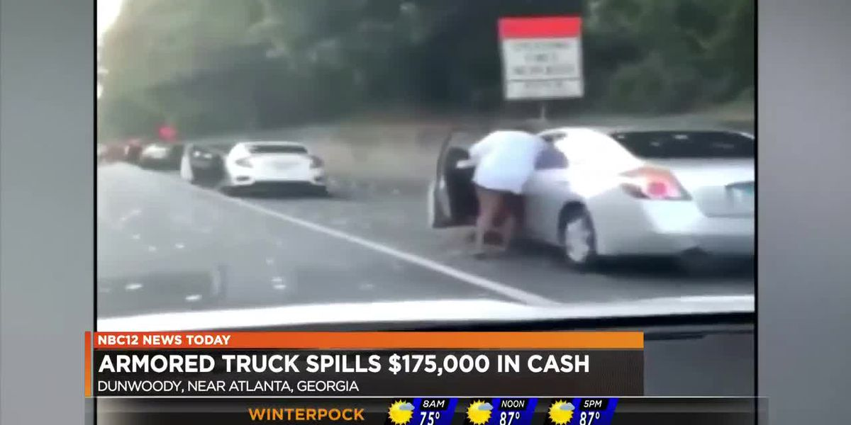 Armored truck spills $175,000 in cash
