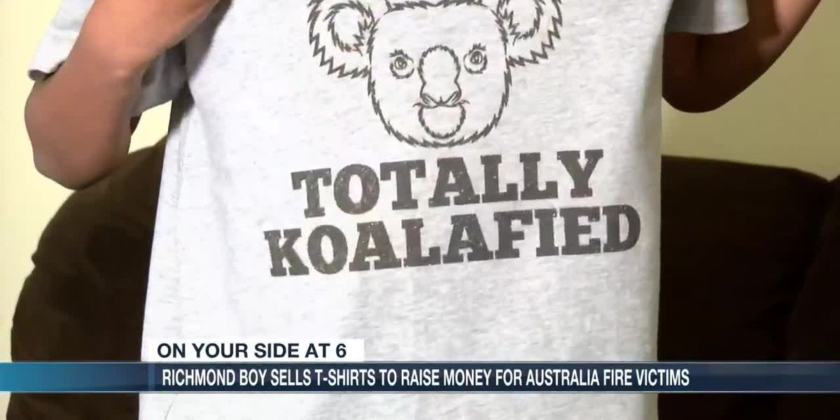 12-year-old Richmond boy sells t-shirts to raise money for Australia fire victims