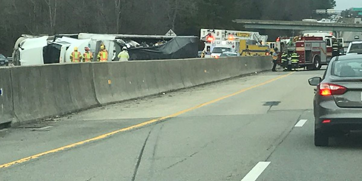 Tractor-trailer hauling 80,000 lbs of trash crashes on Chippenham, closes southbound lanes