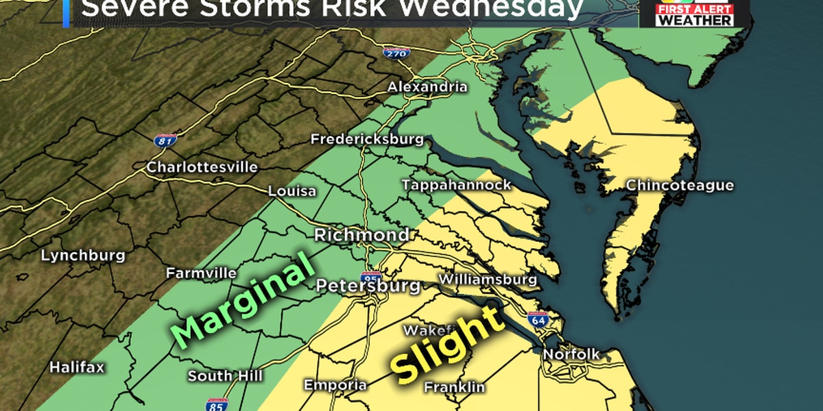 FIRST ALERT WEATHER DAY: Strong to severe storms possible Wednesday
