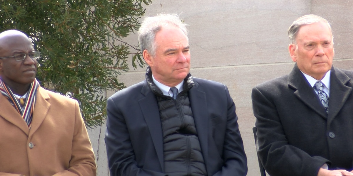 Tim Kaine campaigns for Joe Biden in Richmond