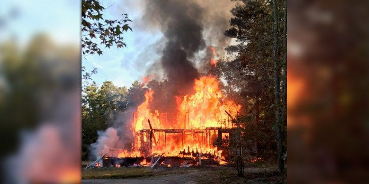 Fire destroys 2-story home in Prince George, roof collapses