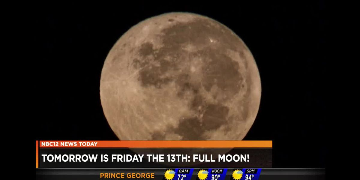 Tomorrow is Friday the 13th: Full moon!