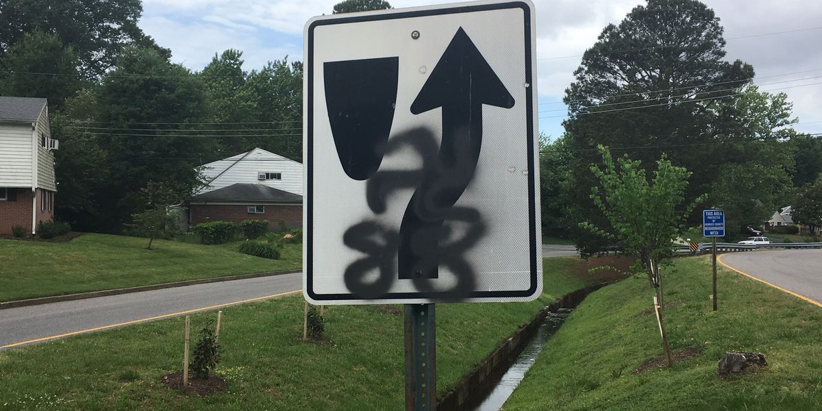 Juvenile charged after swastikas spray painted on mailboxes, road signs in Henrico