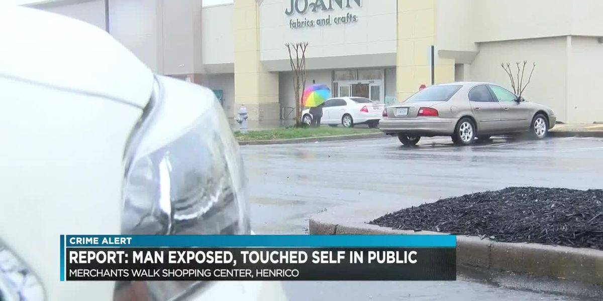 Report: Man exposed, touched self in public
