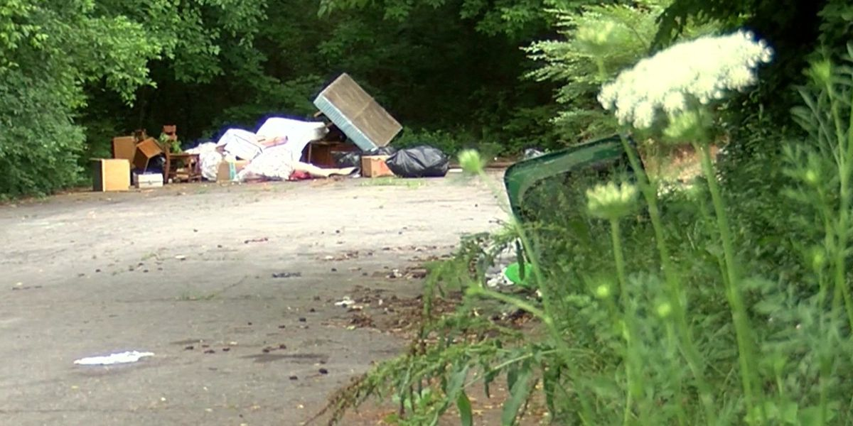 Homeowner calls police after trash is dumped on street