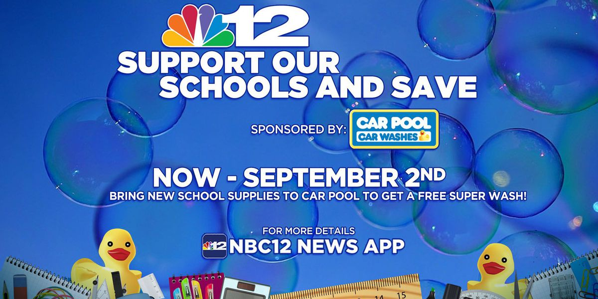 Donate school supplies to get a free car wash at Car Pool