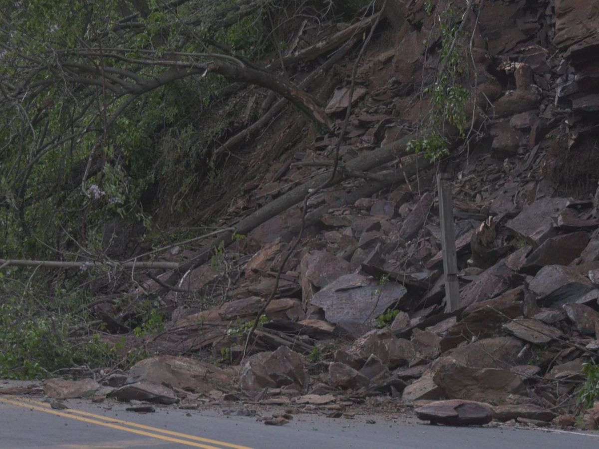 Experts to assess rockslide keeping Route 250 in Afton closed