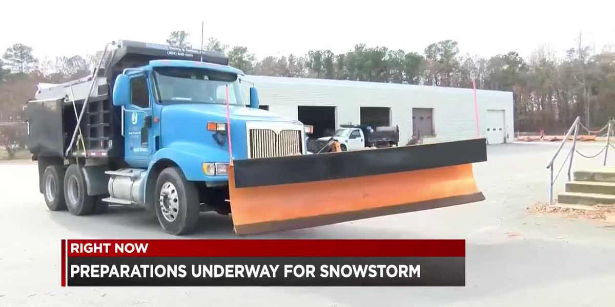 Preparations underway for snowstorm