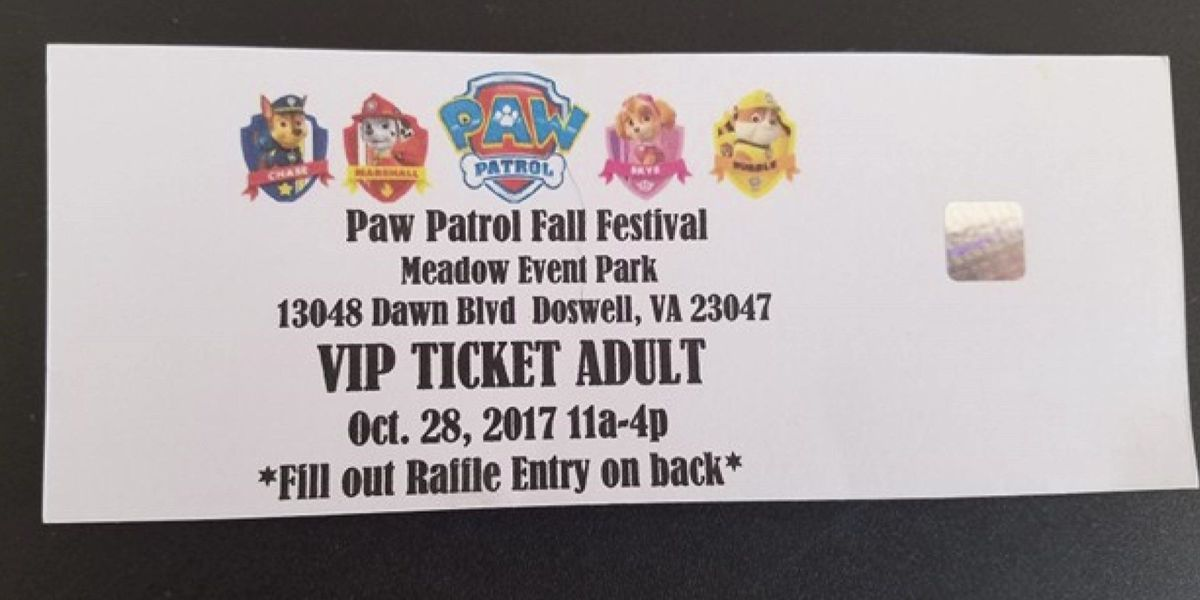 Parents upset after Paw Patrol Fall Festival abruptly canceled