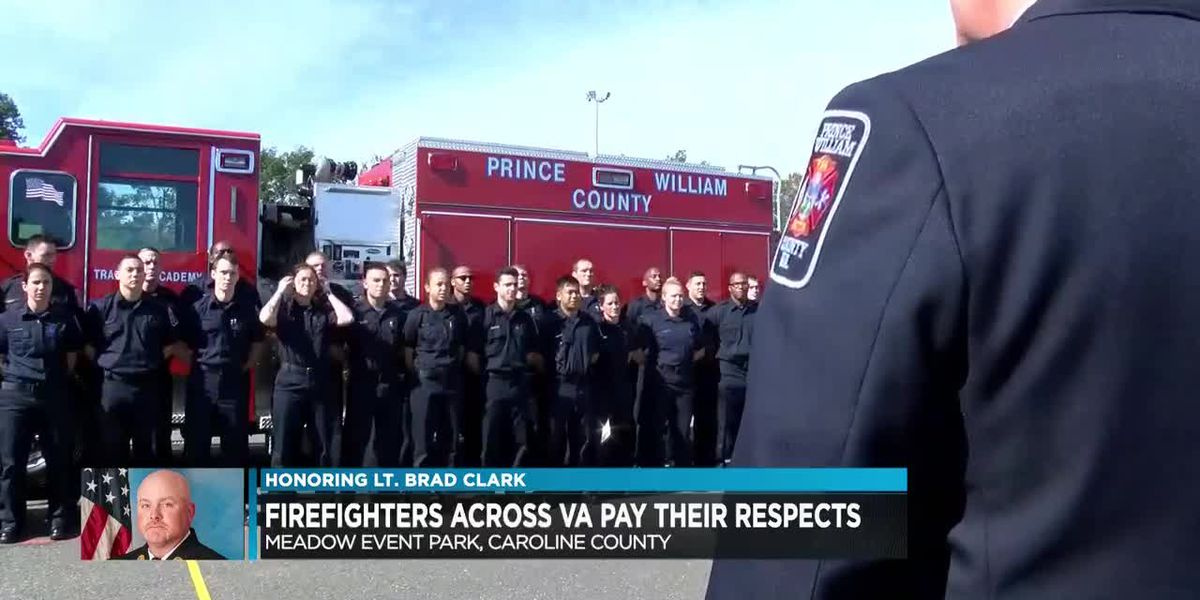 Firefighters pay respects to Lt. Brad Clark