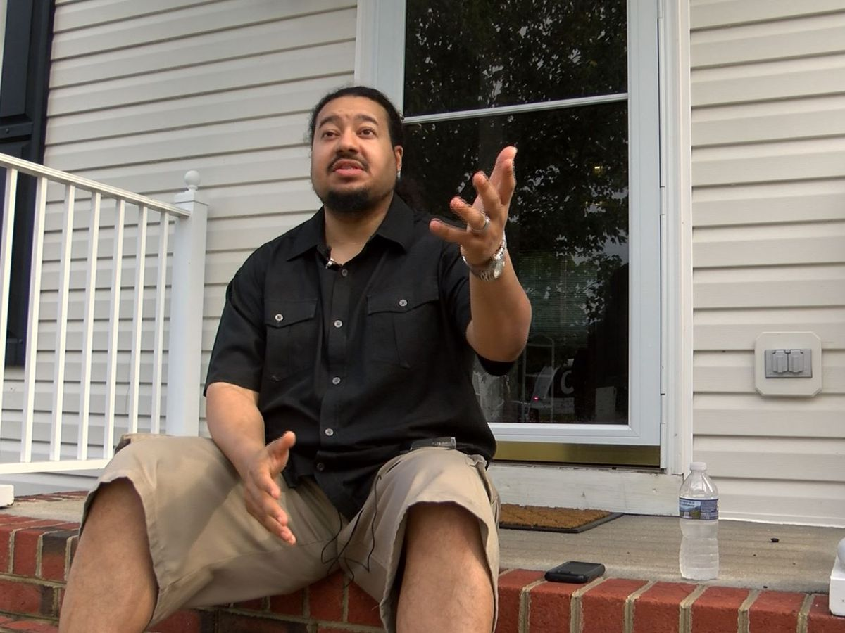 Chesterfield man says he was nearly electrocuted when neighbor's house was struck by lightning