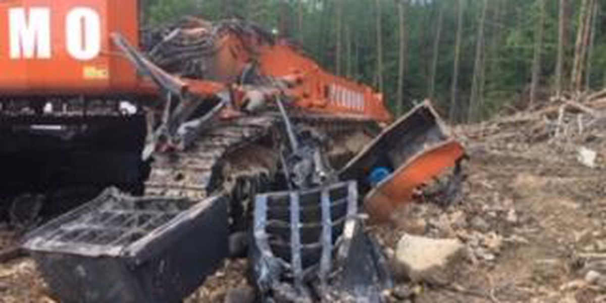 Vandalism causes $1M in damage to excavator