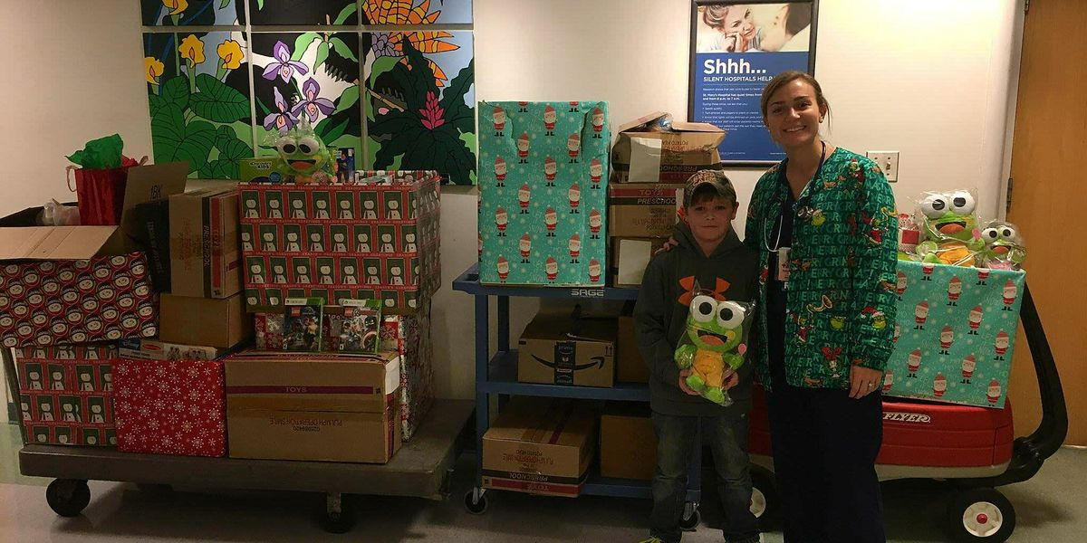 Goochland MS student drops off donations for kids at St. Mary's