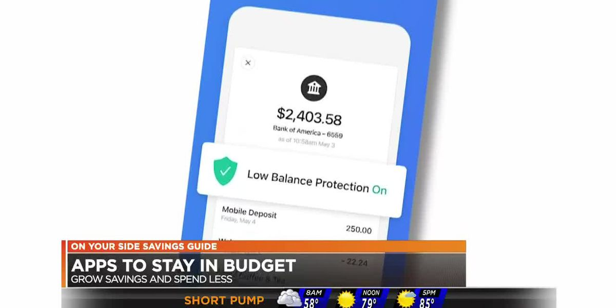 Apps to help you save, budget