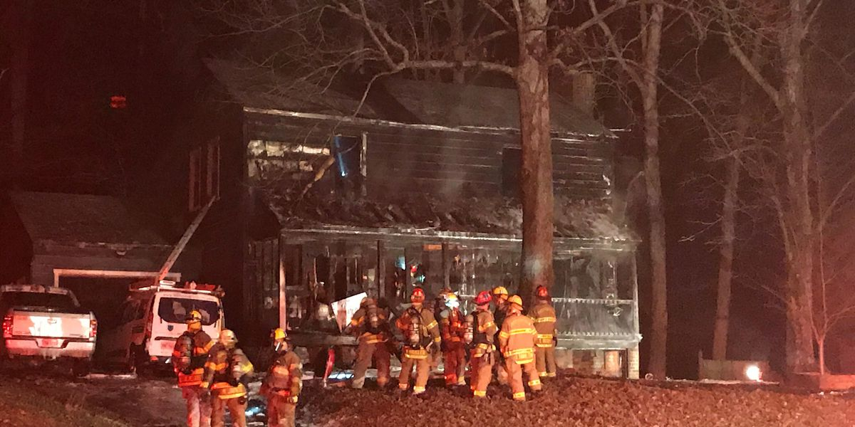 Fire destroys Chesterfield home; 2 residents escape safely