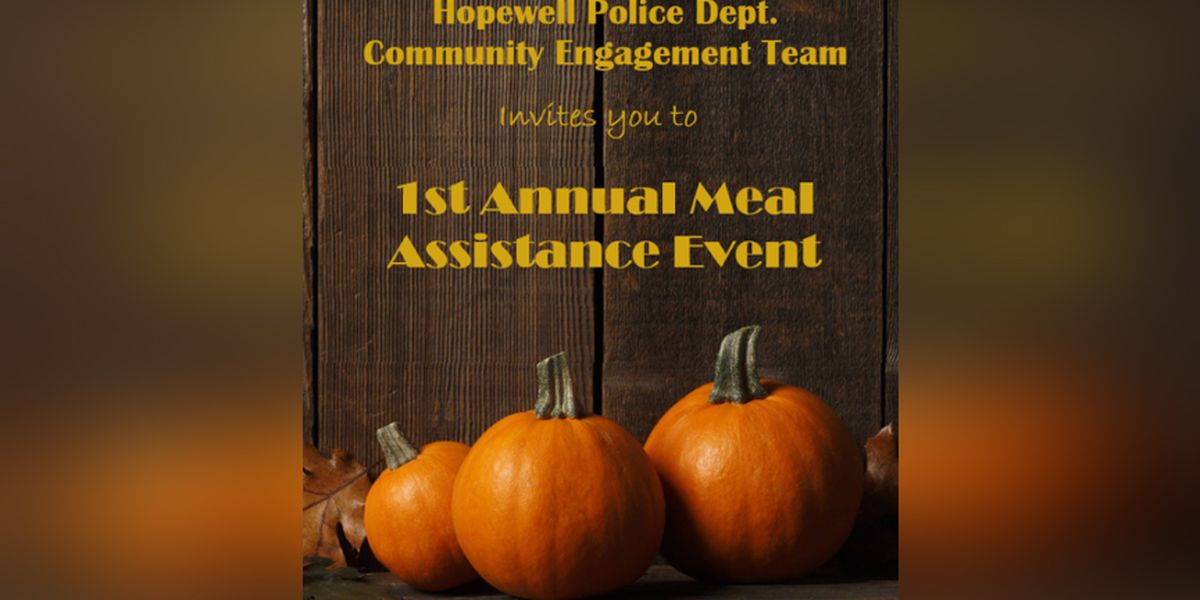 Hopewell police hosting meal assistance event before Thanksgiving