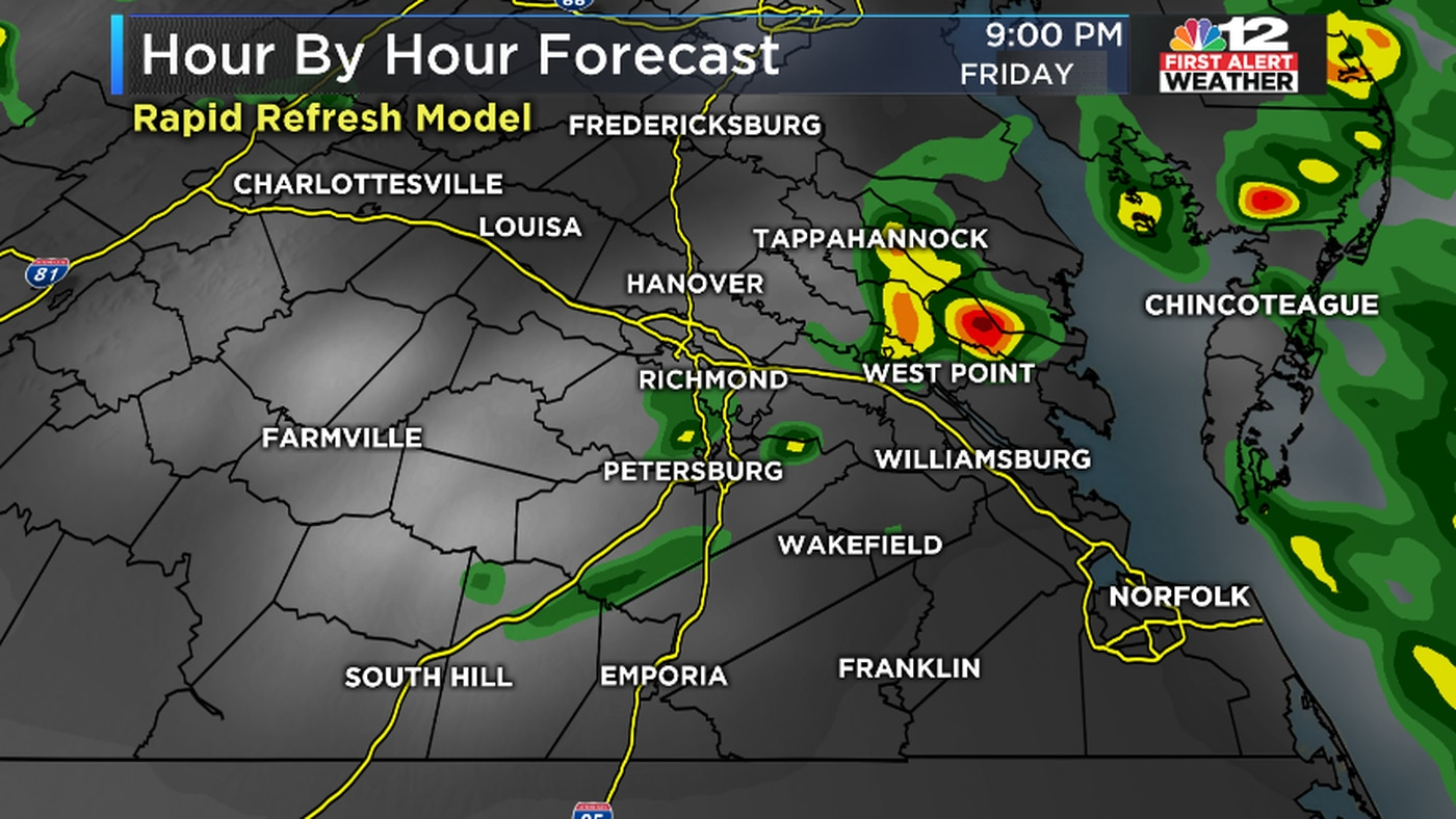 Severe weather threat moves out of Central Virginia