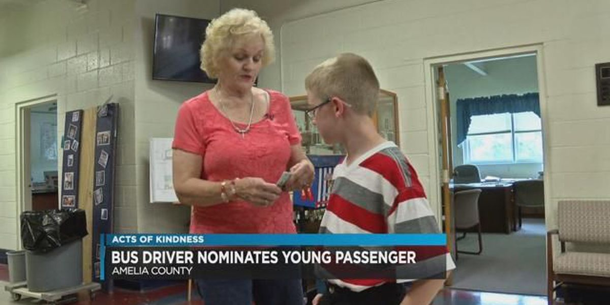 Bus driver nominates young passenger for Acts of Kindness