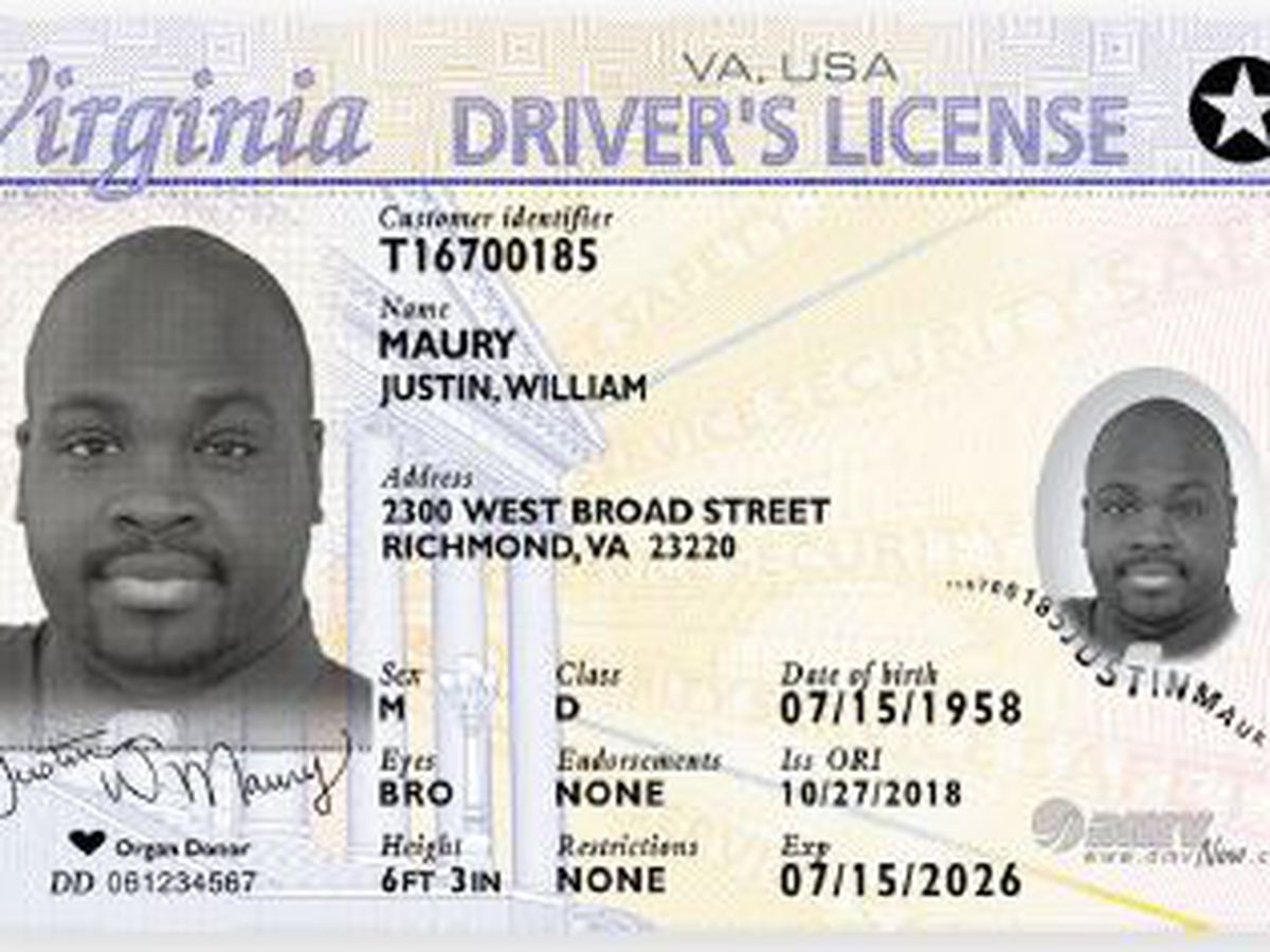TSA, Virginia DMV remind travelers to get REAL ID ahead of 2020 deadline