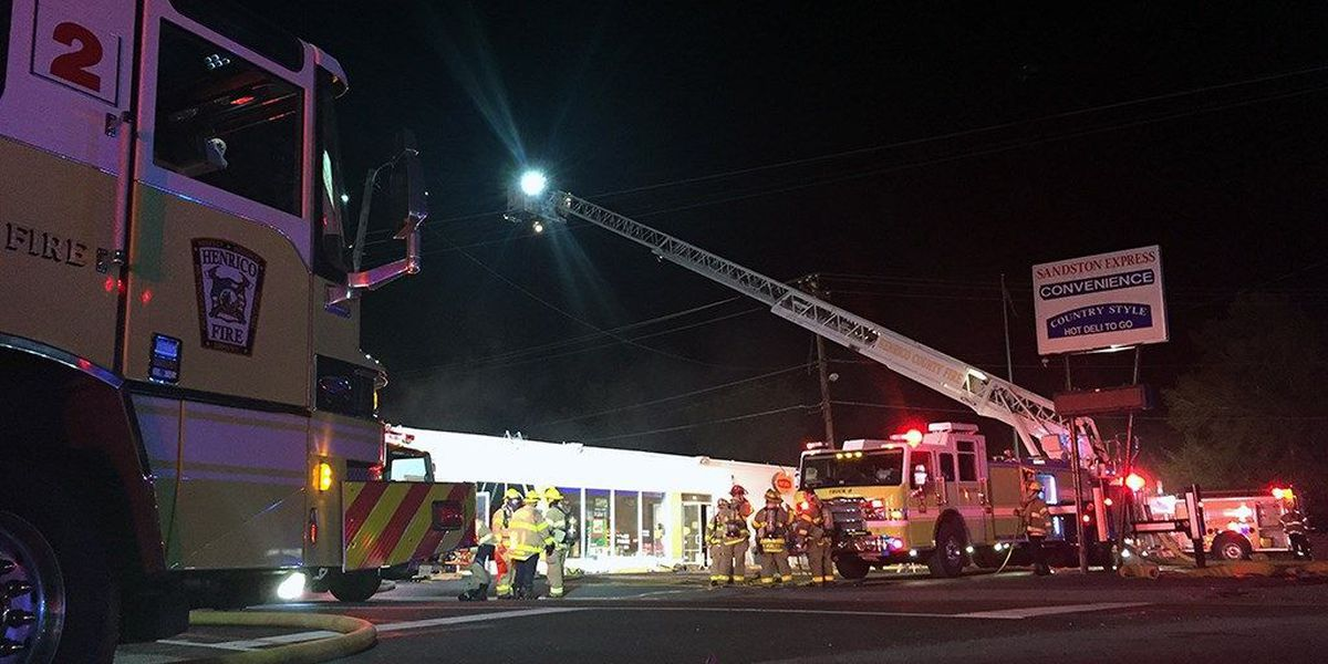 Massive fire breaks out at Sandston business