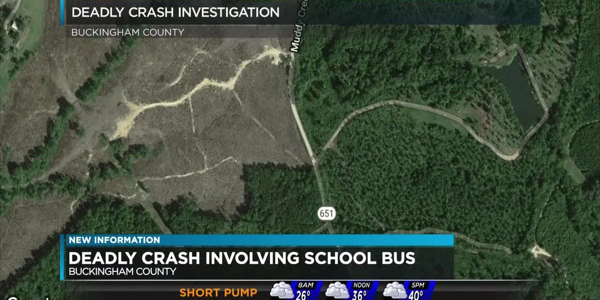 Woman killed in head-on crash with school bus in Buckingham