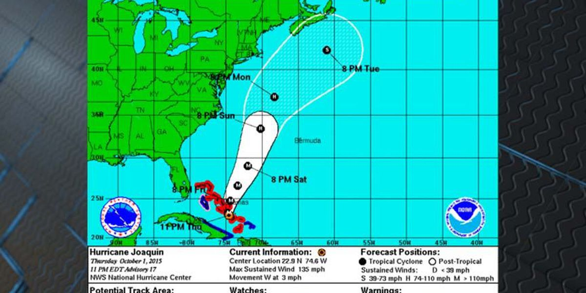Joaquin NOT expected to hit the east coast